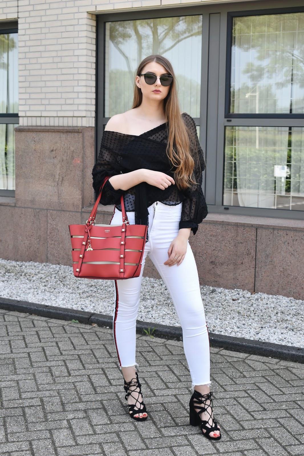 z czym nosić białe spodnie