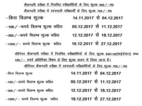 image : HBSE Online Registration Schedule for Sec. & Sr. Sec. March 2018 Exam @ Haryana Education News