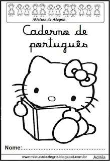 Capa caderno português Hello Kitty