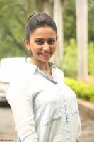 Rakul Preet Singh in Jeans and White Shirt At Jaya Janaki Nayaka le Logo Launch ~  Exclusive 062.JPG