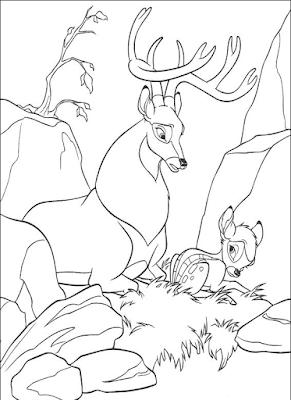 Gambar Mewarnai Bambi - 3