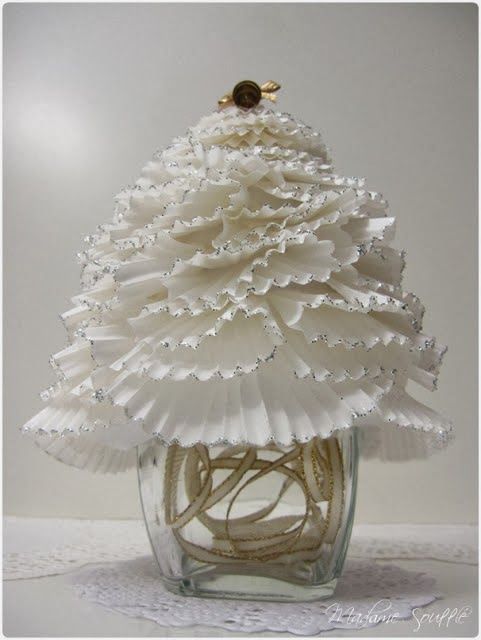 DIY Ruffled Christmas Trees