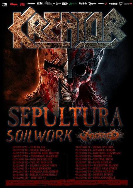 Kreator, Sepultura, Soilwork y Aborted