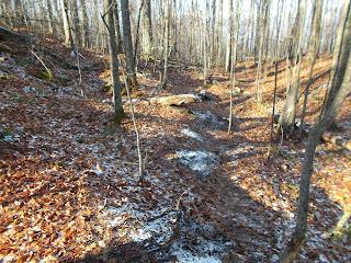 l'automne Jay Mountain Adirondaks trace de neige