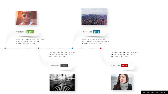 Horizontal timeline for PowerPoint Template Type A Second Slide