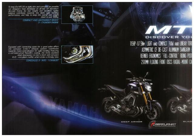 Risalah Rasmi Yamaha MT-09 Dari Yamaha Malaysia