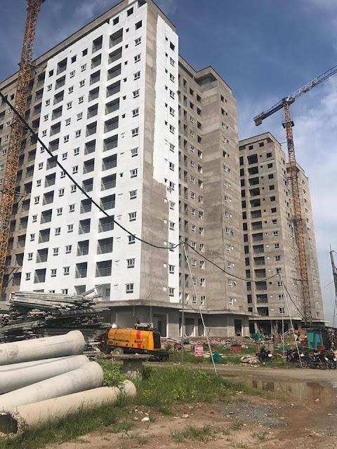 Hình ảnh tiến độ tòa HH01 Thanh Hà đang hoàn thiện