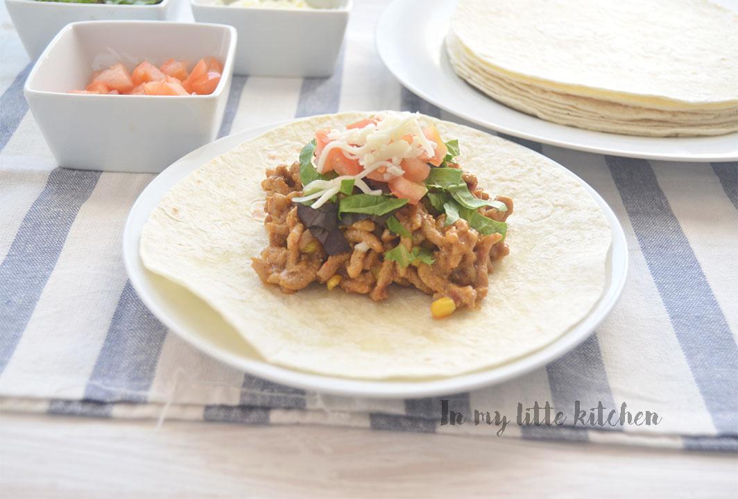 Burritos de ternera y maíz