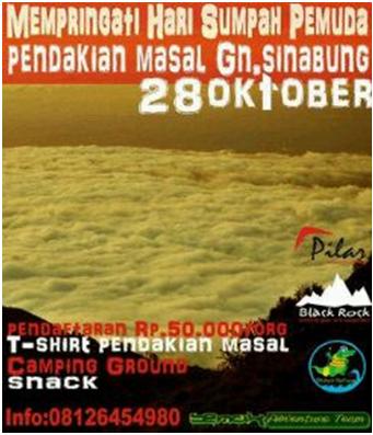 Pendakian Masal Gunung Sinabung Peringati Hari Sumpah Pemuda