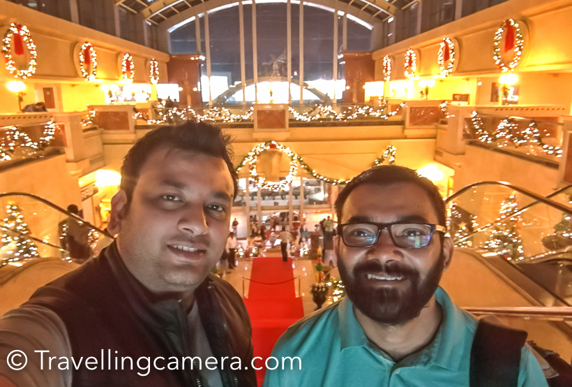 Overall a very well spent evening with Rohin at UB City. It's certainly one of the best places in Banglore for eating out with friends. And during festivals there are special arrangements all around.