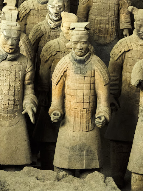 Chariot driver in the terracotta army Pit 1 near Xi'an China