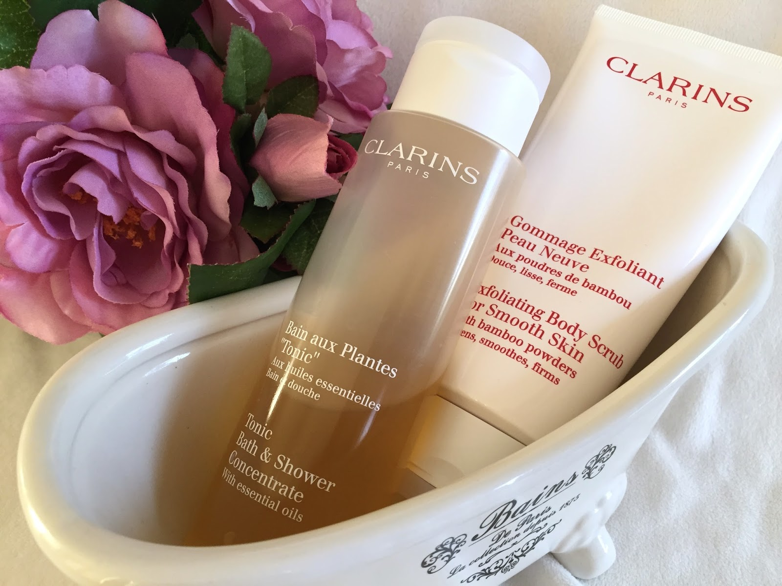 Good Clarins Tonic Bath And Shower Concentrate Part - 8: Clarins Tonic Bath U0026 Shower Concentrate RRP $38.00 AUD Clarins Exfoliating  Body Scrub RRP $45.00 AUD