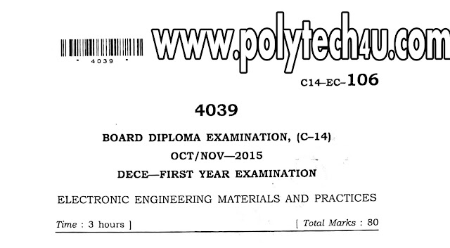 c-14 DECE 106 - ELECTRONICS ENGINEERING MATERIALS AND PRACTICES