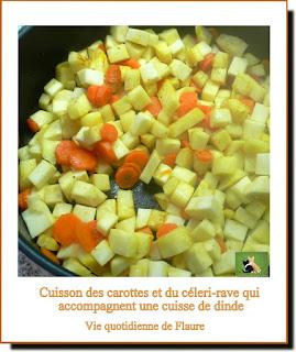 Vie quotidienne de FLaure : Cuisse de dinde, carottes, céleri-rave, mielés