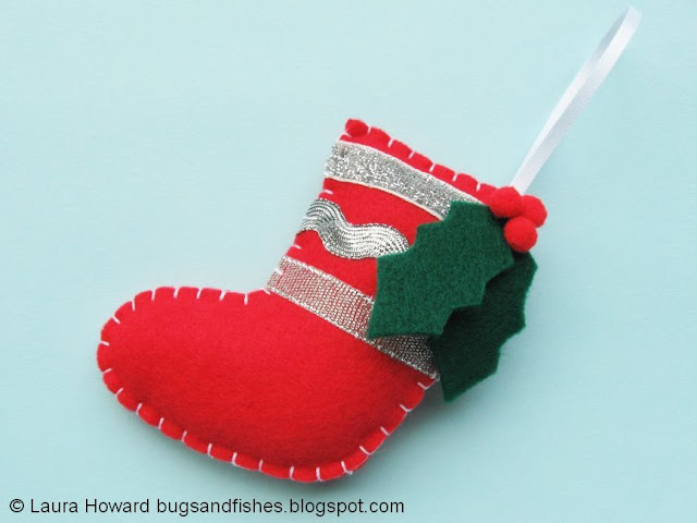 felt stocking ornament