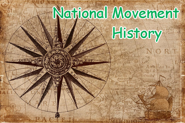 100+ gk questions History National Movement mcqs