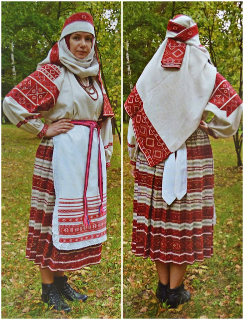 traditional festive costume of a married woman from Belarus
