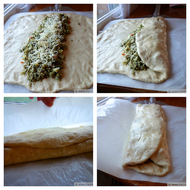 Turkey Pesto Olive Feta FFF-a-boli | Farm Fresh Feasts