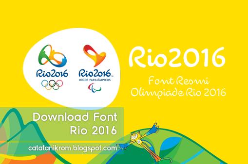 Catatan Ikrom Download Font Rio 2016