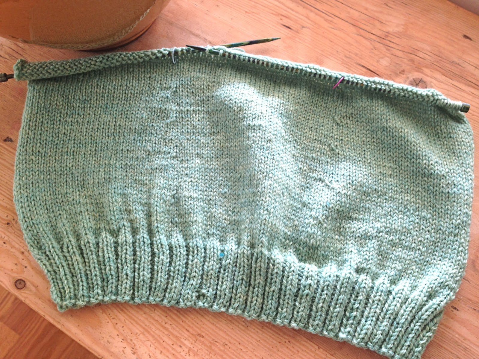 options KAL progress and a V-neck tutorial - Knitionary