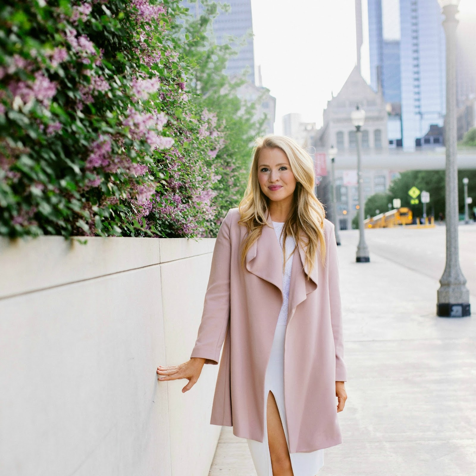 ralph lauren blush coat