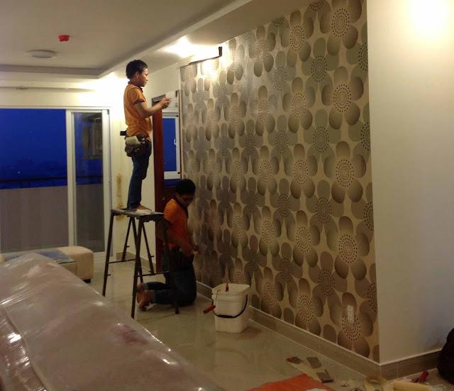 Thời gian thi công giấy dán tường chỉ trong ngày