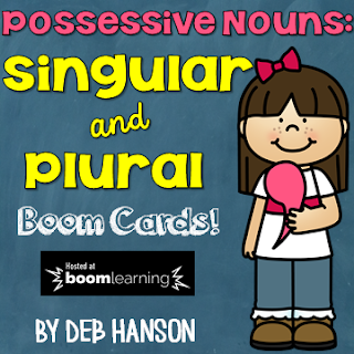 FREE digital task cards! This set focuses on singular and plural possessive nouns.