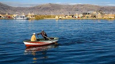Foto del Lago Titicaca