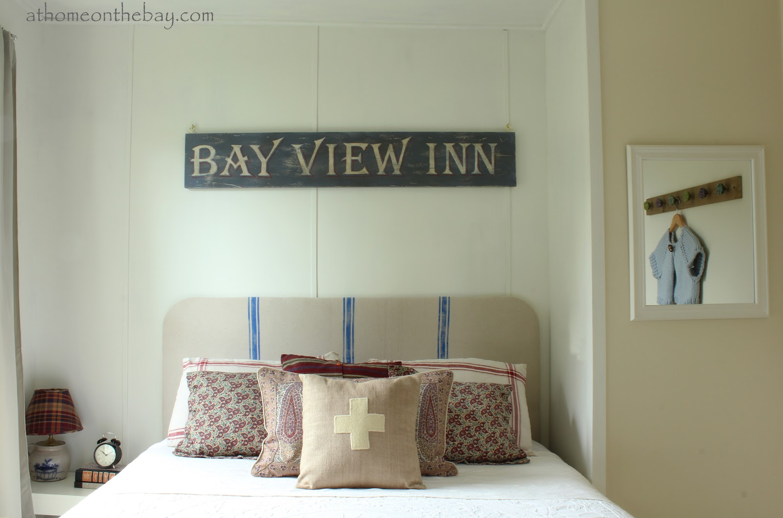 Remodelaholic | Peaceful Beach Themed Guest Bedroom