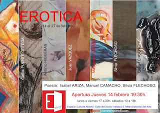 Invitación Colectiva EROTICA en Espacio Cultural Abierto.