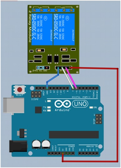 arduino dengan modul relay