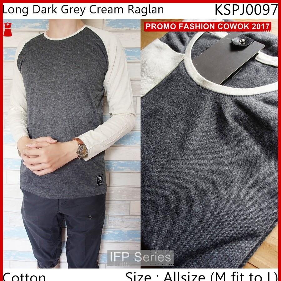 BIMFGP027 Grey Kaos Lengan Panjang Pria PROMO