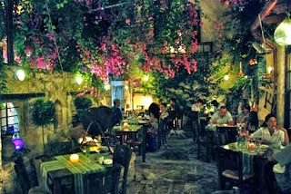Romantic Restaurants greek islands