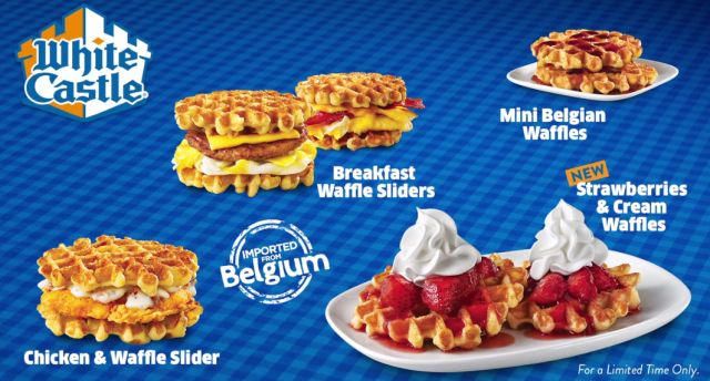 Belgian waffles return to white castle brand eating for White castle double fish slider with cheese