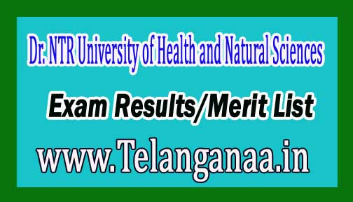 Dr. NTRUHS M.D (Homoeo) Exam Results/Merit List 2016 Download