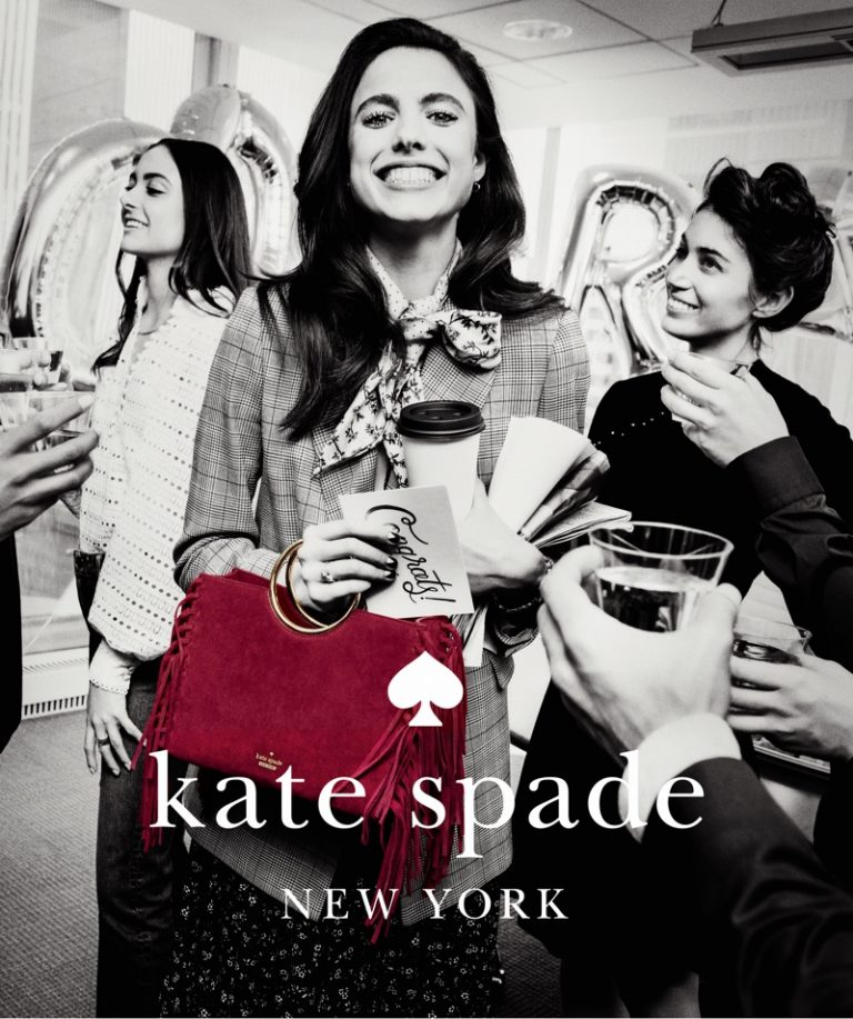 Margaret Qualley stars in Kate Spade fall winter 2018 ad campaign