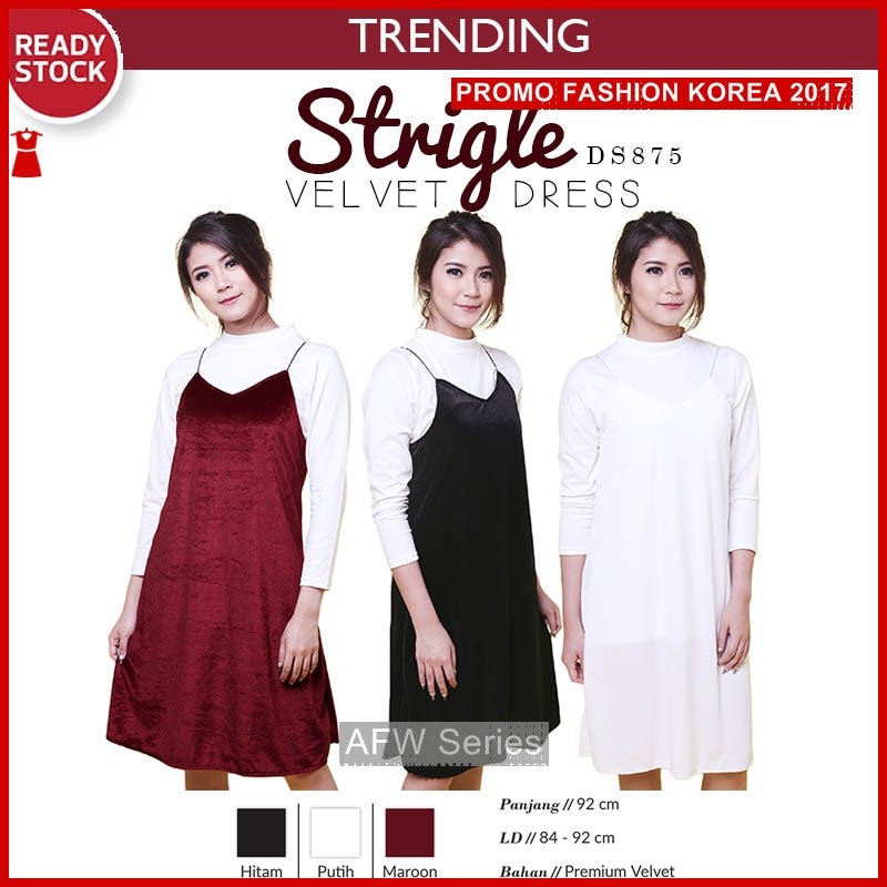 BAMFGW063 Strigle Dress Gaun Wanita PROMO BMG