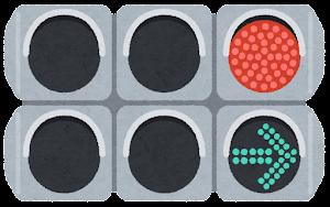 矢印式信号機のイラスト(右折)