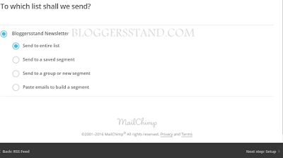 select receipents list from mailchimp