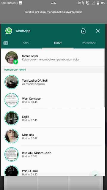 Cara Gampang Menjalankan 2 Aplikasi Dalam 1 Layar di Android 4