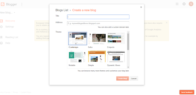 How to start a Blog for Newbies