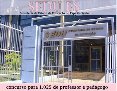 Concurso para Professor ES é anuncia com 1.025 vagas no Espírito Santo
