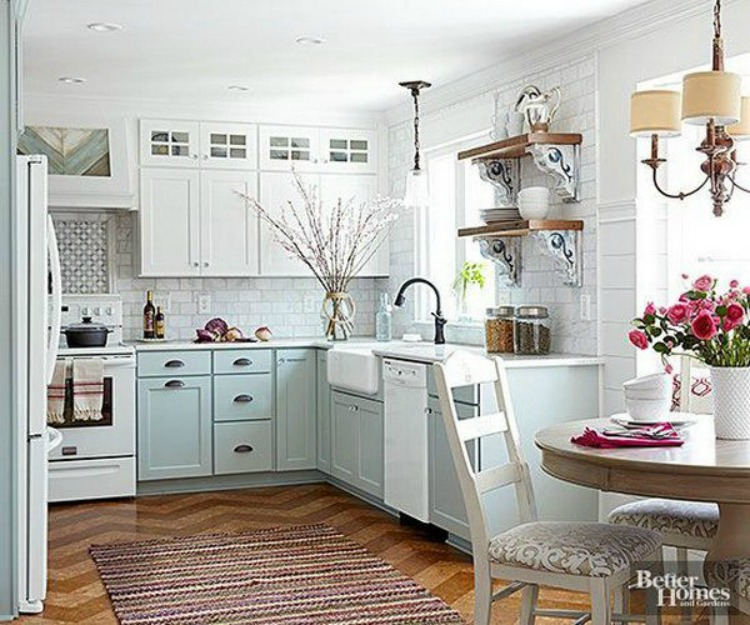 Two Color Kitchen Cabinets: Beckabella Style: SWOONING OVER WHITE KITCHENS WITH GOLD