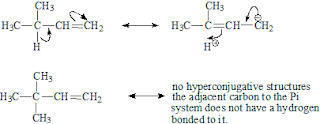 Hyper-Conjugation exists in the carbocations, free radicals and alkenes and arenes