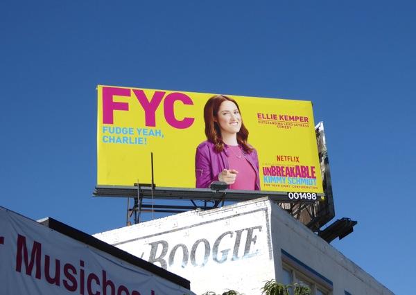 Kimmy Schmidt Fudge Yeah Charlie Emmy billboard