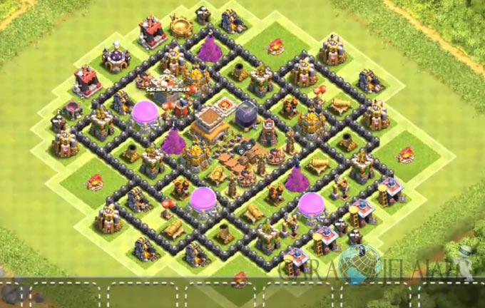 Base Hybrid TH 8 Clash Of Clans Terbaru Tipe 18