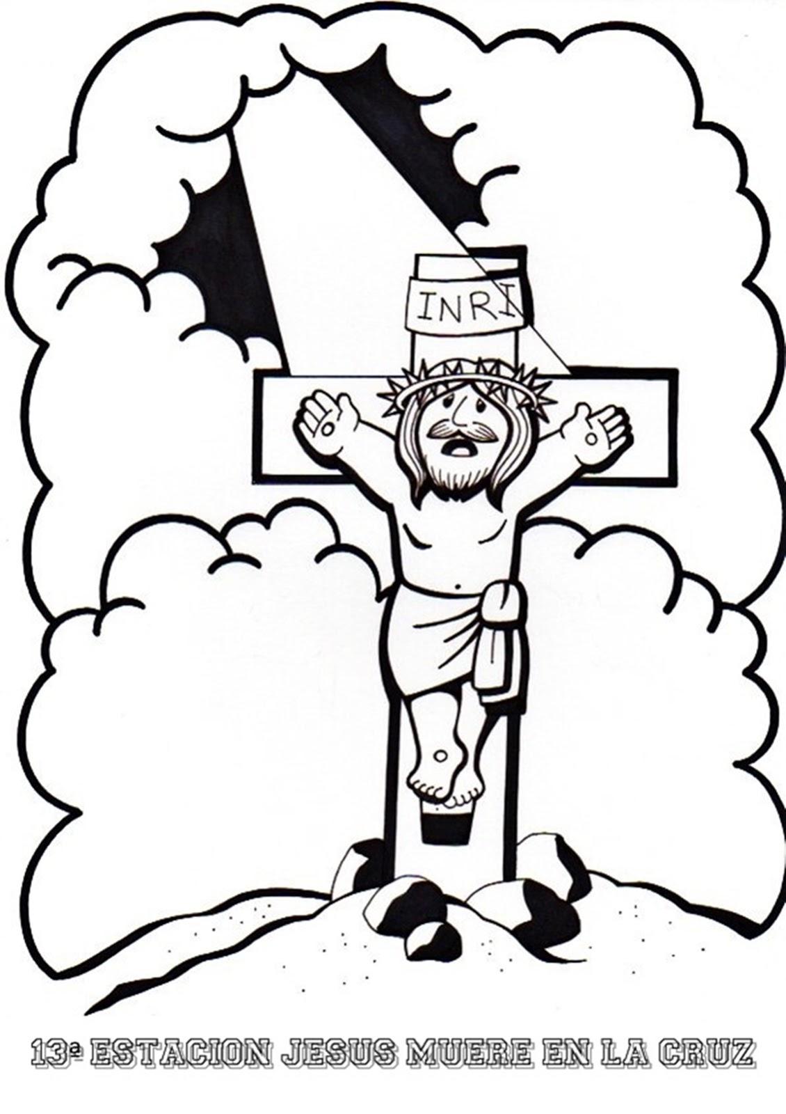 Erlijioko Irakaslea Via Crucis Para Colorear