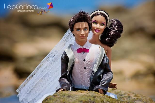 Barbie e Ken de noivos na Praia da Pipa