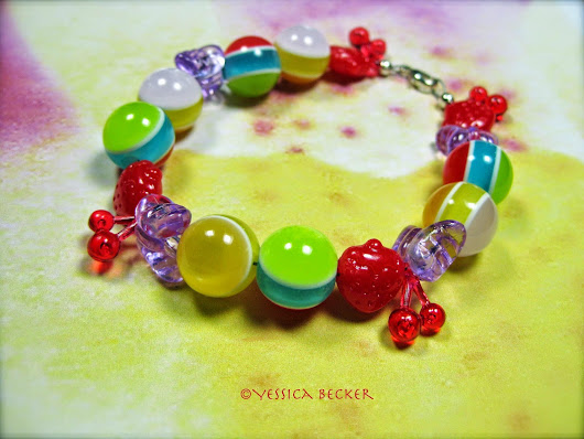 Children Bracelet with Acrylic Beads