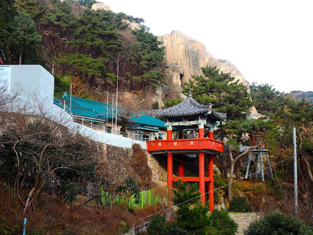 Outside of Seokbulsa Temple on Geumjeongsan Mountain, Busan, South Korea